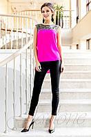 Стильная малиновая туника Олимпия Jadone Fashion 42-50 размеры