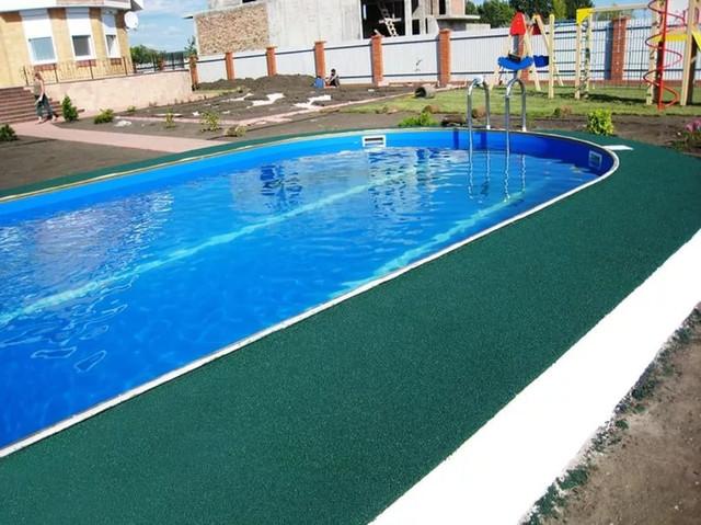 Резиновое покрытие для бассейнов, аквапарков, спа.