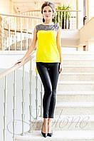 Стильная желтая туника Олимпия Jadone Fashion 42-50 размеры