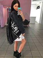 Куртка джинсовая Молнии черная