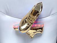 Светящиеся  кроссовки led золотые