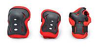 Спортивная Защита для детей,   для локтей, колен и запястий, цвет черный