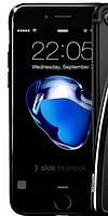 Apple iPhone 7 Чехол-накладка Remax Air Series Black (материал: силикон прозрачный, черный периметр; упаковка: