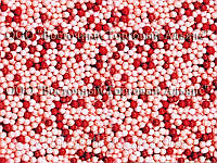 Посыпки кондитерские — Шарики красно-розовые перламутровые 1 кг