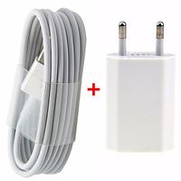 Зарядное 2в1 + USB кабель для Iphone 6 6S белая