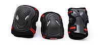 Спортивная Защита для детей,   для локтей, колен и запястий, цвет черно-красный