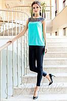 Стильная бирюзовая туника Олимпия Jadone Fashion 42-50 размеры