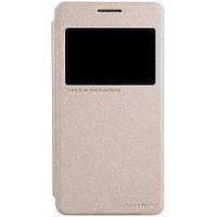 Чeхол-книжка Nillkin Sparkle Series для Samsung G530H/G531H Galaxy Grand Prime Gold (золотой)