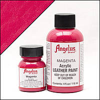 Краска для кожи Angelus Magenta (пурпурно-красный) 90 мл.