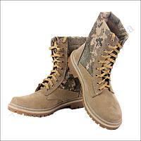 Берцы летние облегченные, обувь для военных, нубук пиксель