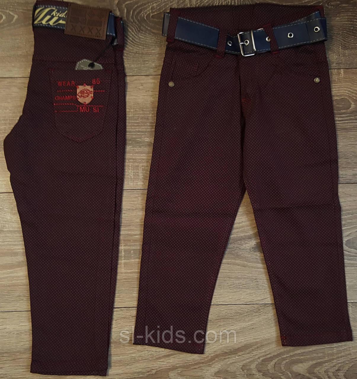 Стильные штаны,джинсы для мальчика 2-6 лет(бордо точка) опт пр.Турция