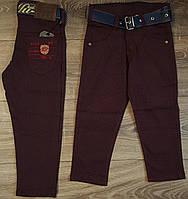Стильные штаны,джинсы для мальчика 2-6 лет(бордо точка)  пр.Турция