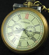 Часы карманные механические на цепочке London