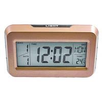 Электронные часы с подсветкой 2616: время, календарь, температура, будильник, 15х9,2х4,3 см