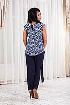 Д1249/1 Женский костюм штапельный размеры 50-56, фото 3