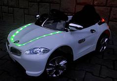 Детский электромобиль BMW B3 белый, EVA колеса, Яркая подсветка