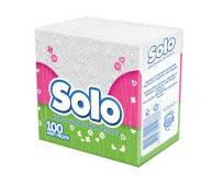 Салфетки столовые Solo Супер белые 30х30 однослойные 100 шт.