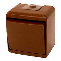 "Кнопка ""звонок"" (коричневый) (IP44) VHE-4-KR"