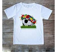 Футболка женская,мужская принт Мяч с венком