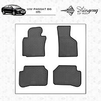 Коврики резиновые в салон Volkswagen Passat B6 c 2005 (4шт) Stingray