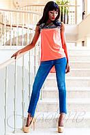 Стильная оранжевая туника Олимпия Jadone Fashion 42-50 размеры