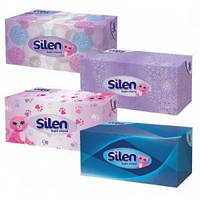 Салфетки в боксе Silen белые 150 шт.