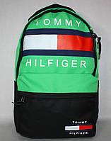 Городской рюкзак TOMMY HILFIGER черный салатовый