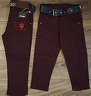 Стильные штаны,джинсы для мальчика 2-6 лет(бордо клетка) пр.Турция