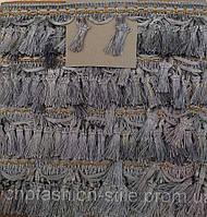 Бахрома, цвет серый,ширина 7см, 16м в рулоне