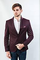 Пиджак мужской бордовый