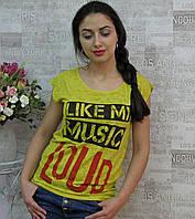 """Футболка женская, 42-52 р/р. """"Retrika"""", Турция. Женские футболки модные турецкие, фото 1"""