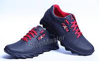 Кроссовки кожаные Jordan Black-Red