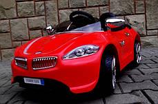 Детский электромобиль BMW B3 красный, EVA колеса, Яркая подсветка, фото 2