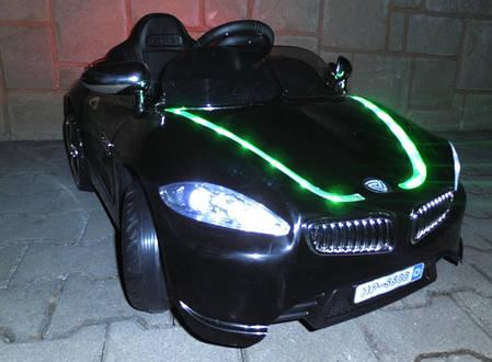 Детский электромобиль BMW B3 черный, EVA колеса, Яркая подсветка, фото 2