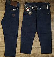 Стильные штаны,джинсы для мальчика 2-6 лет(т.синие клетка)  пр.Турция