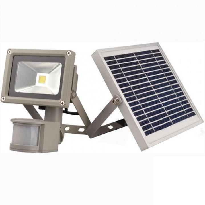 Светодиодный прожектор LEMANSO cолн.бат.+ акку 20w д/движ.