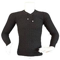 Современный свитер для мужчин - №2177, Цвет черный, Размер M