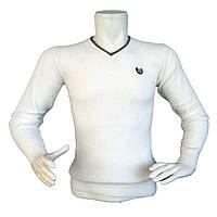 Мужской белый свитер - №2174, Цвет белый, Размер M