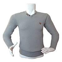 Мужской серый свитер - №2179, Цвет серый, Размер M