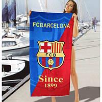 Большое махровое полотенце FC Barcelona - №2191, Цвет разноцветный