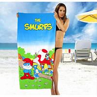 Хорошие махровые полотенца The Smurfs - №2192