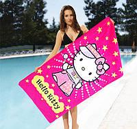 Детское полотенце хлопковое Hello Kitty- №2194, Цвет разноцветный