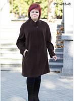 Укороченное  пальто  силуэта  трапеция