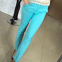 Стильные женские брюки голубого цвета