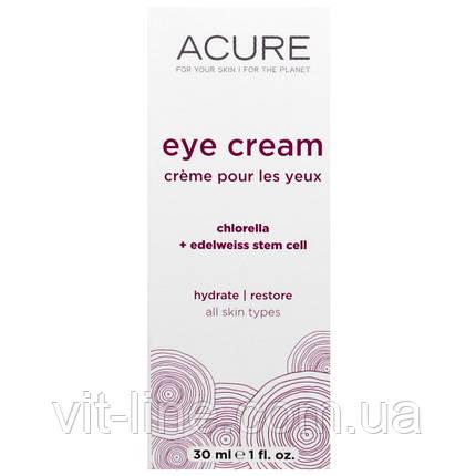 Acure Organics, Крем для глаз, со стволовыми клетками хлореллы и эдельвейса (30 мл), фото 2