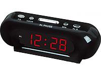Сетевые электронные часы VST 716-1: будильник, функция запоминания данных, 220В, 2хААА