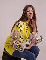 Вишита туніка жіноча МВ-01 жовта