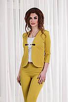 ДТ1116 Женский брючный костюм тройка, фото 3