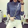 Женская красивая хлопковая рубашка в клетку (3 цвета)