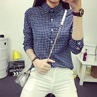 Женская красивая хлопковая рубашка в клетку (3 цвета), фото 1